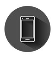 phone device sign icon in flat style smartphone vector image vector image