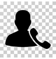 phone support icon vector image vector image