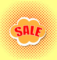 pop art comics cloud banner with the word sale vector image vector image