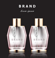 realistic pink perfume bottles mock up vector image vector image