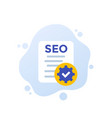 seo search engine optimization icon flat vector image vector image