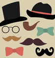 Set for Gentelmens Party Glasses Hats Bow Ties
