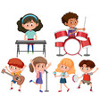 set of musician character vector image