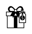 shopping big gift box discount offer online vector image