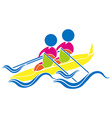 Sport icon design for kayaking vector image