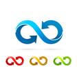 symbol infinity art info color set collection vector image