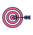 target arrow on white background vector image