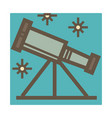 telescope device for stars and constellation vector image