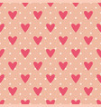 tile cute pattern with hearts and polka dots vector image vector image
