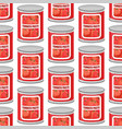 tomato paste seamless pattern cans texture iron vector image