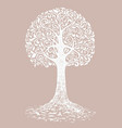 tree sketch decoration leaves hand drawn vector image vector image