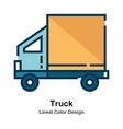 truck lineal color icon vector image vector image