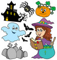 various halloween images 5 vector image