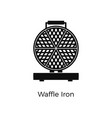 waffle iron flat icon appliance vector image vector image