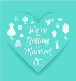 wedding invitation badge vector image