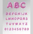 balloon alphabet realistic transparent composition vector image