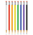 a set colored pencils vector image