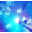 Abstract blue circle technology mosaic background vector image vector image