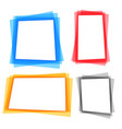 abstract colorful geometric frame borders set vector image vector image