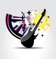 Abstract guitar art vector image