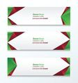 Abstract Triangle Banner vector image