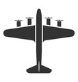 airplane symbol or aircraft black icon travel vector image vector image