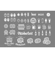 Beer icon chalkboard set - labels posters signs vector image vector image