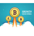 bitcoin growth business concept digital money vector image