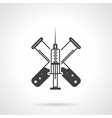 Black icon for injection vector image