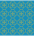 blue yellow geometric circles repeat pattern vector image vector image