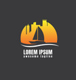 boat logo template concept vector image vector image