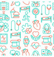 cardiology seamless pattern vector image vector image