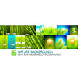 collection of nature backgrounds and banners vector image
