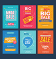 collection sale and discount offers flyers vector image