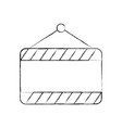 construction banner hanging icon vector image vector image