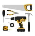 Construction tools instruments set vector image