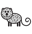 Cute animal leopard vector image