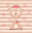 cute funny cartoon bear characters vector image vector image