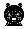 cute portrait panda bear animal baby with close vector image vector image