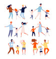 dancing family kids playing and dancing with vector image vector image