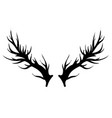 deer horns silhouette isolated vector image vector image