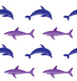 dolphin and shark embroidery seamless pattern vector image vector image