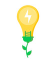 eco friendly save planet and energy concept vector image vector image