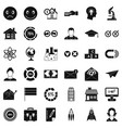 elearning icons set simple style vector image vector image