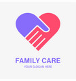 family care icon charity vector image vector image