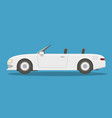 flat white cabriolet vector image vector image