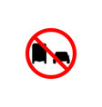 forbidden pass truck icon on white background can vector image vector image