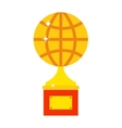 Globe award vector image