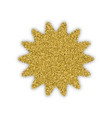 gold star with bland shadows vector image
