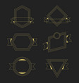 golden thin line empty geometrical banners design vector image vector image